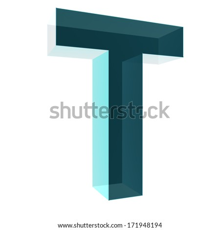 3d letter collection - T