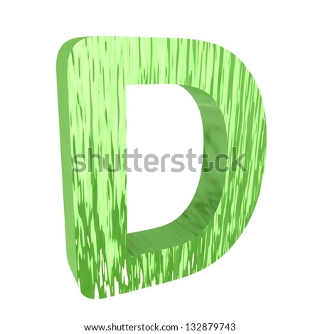3d letter from set