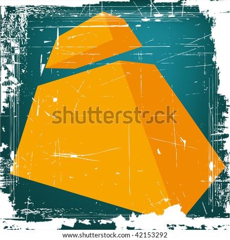 "3d letter ""I"" on GRUNGE background - stock photo"