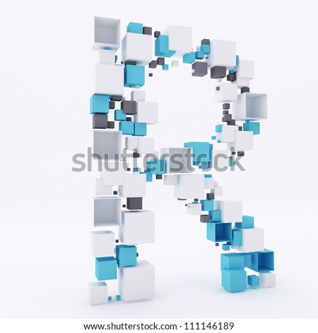 3 d letter r build out cubes stock illustration 111146189 shutterstock 3d letter r build out of cubes altavistaventures Gallery