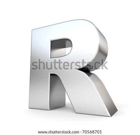 3d letter R from my metal  R Logo 3d