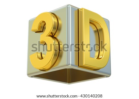 3D logo, 3D rendering  isolated on white background