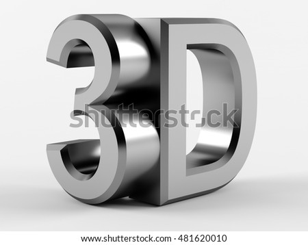 3D logo on a white background. 3D rendering.