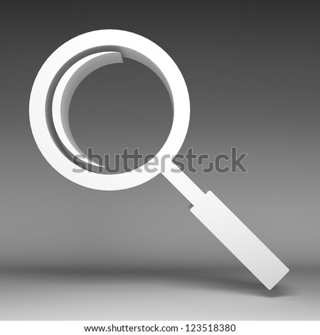 3d Magnifying glass icon - stock photo