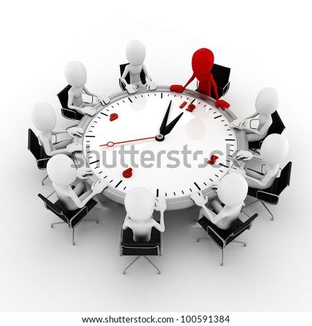 3d man business conference concept - stock photo