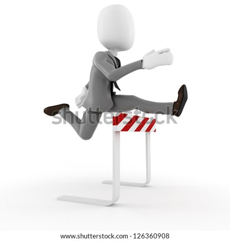 3d man businessman competition in business, concept