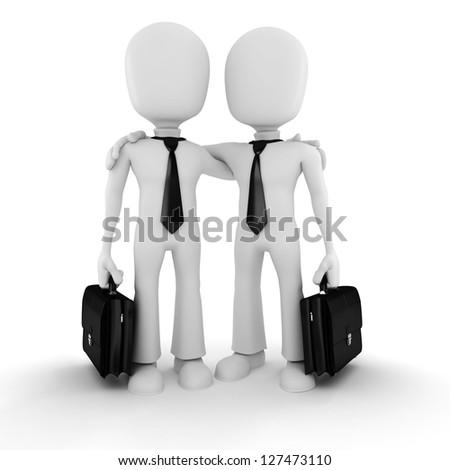 3d man businessman on white background - stock photo
