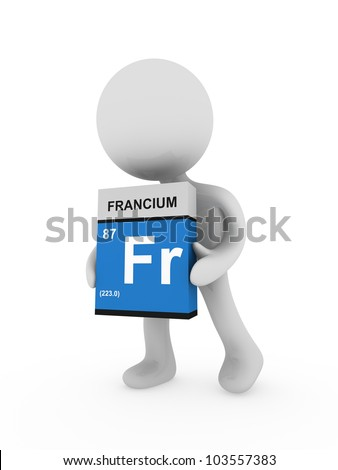 3d man carry a francium box