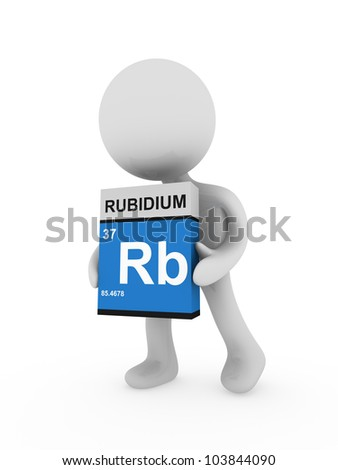 3d man carry a rubidium box