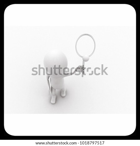 3d man playing with bat and ball  concept  in white isolated background - 3d rendering , top angle view