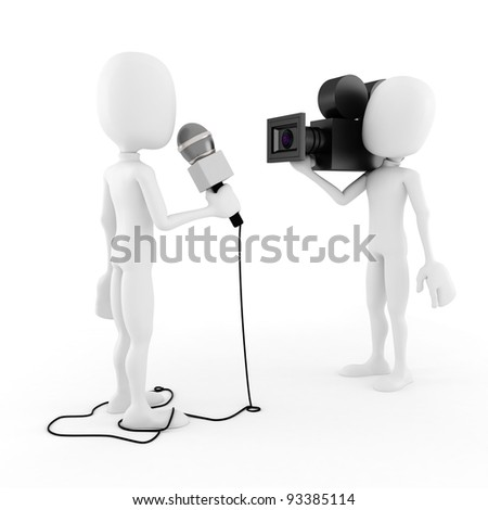 3d man reporter - interview