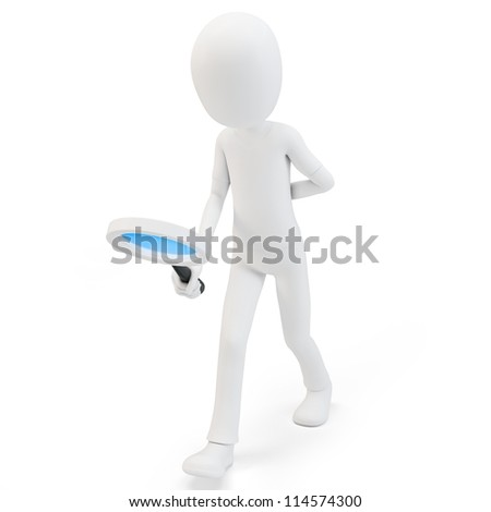 3d man searching concept on white background
