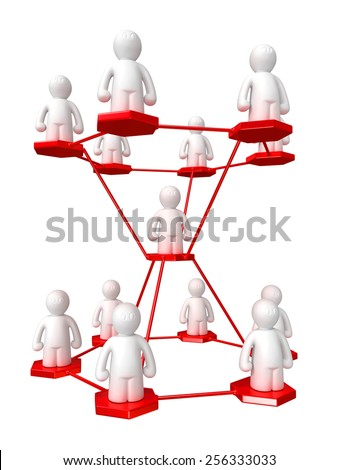 3d management structure on white background, isolated