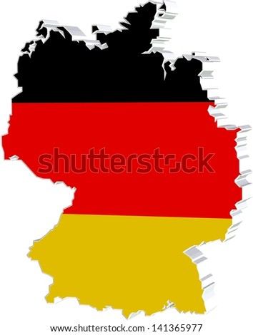 3 D Map of germany