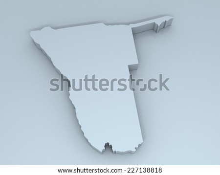 3D map of niger on a simple background with high-resolution