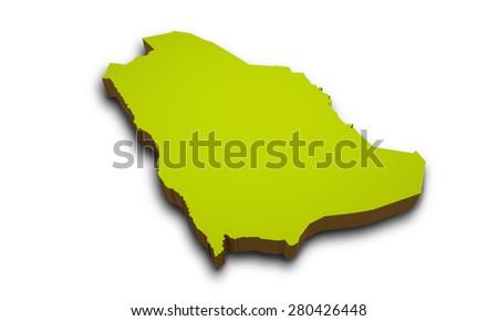 Saudi Arabia Map 3d 3d Map of Saudi Arabia