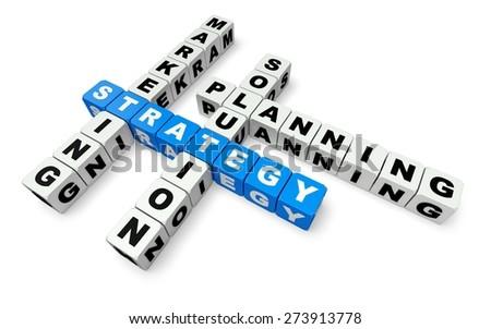 3D. Marketing, Strategy, Business. - stock photo