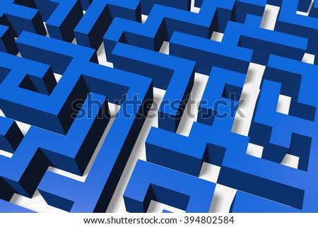 3D maze/ labyrinth concept. - stock photo