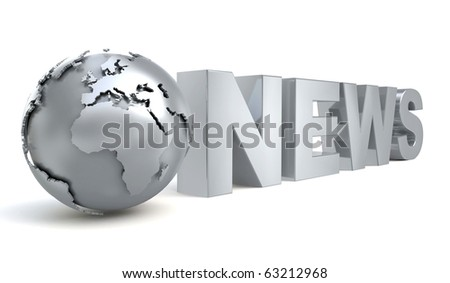 3d metal logo news from my metal collection - stock photo