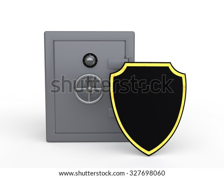 3d metal safe and shield