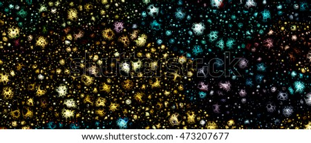 3D Micro-cosmos. Abstract, background texture for image design, internet site development and other creative projects.