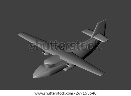 3D model of a small passenger plane.