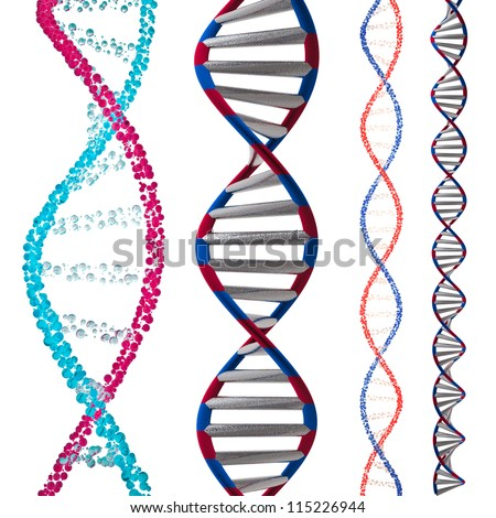 3d model of DNA - stock photo