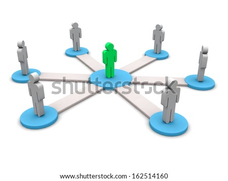 3d model of people connecting  - stock photo