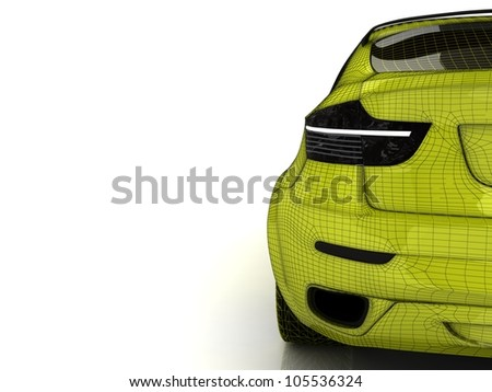 3d model of sport car for wallpaper