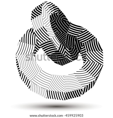 3d Modern Stylish Abstract Stripy Construction Stock Illustration ...