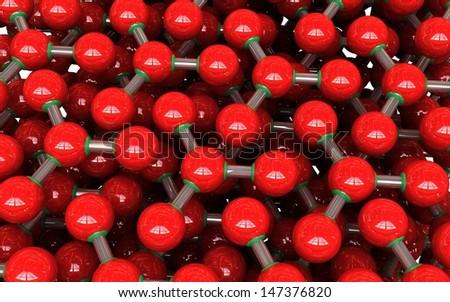3d molecules  - stock photo