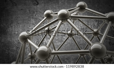 3D molecules structure background High resolution - stock photo