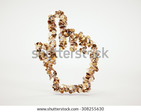 3d money cursor sign with included clipping path - stock photo