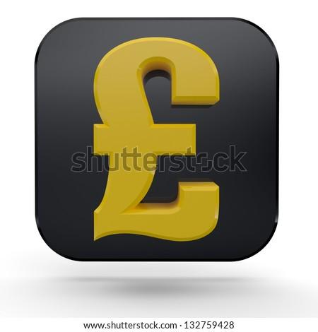 3D Money Symbol Set. 3D Sterlin Sign. SterlinSymbol. - stock photo