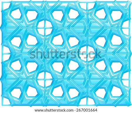 3D Monochrome geometrical pattern background. - stock photo