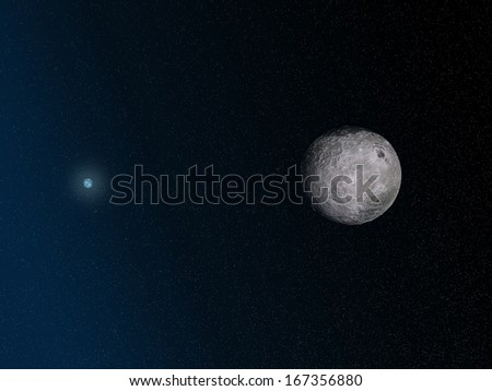 3d moon and earth - stock photo