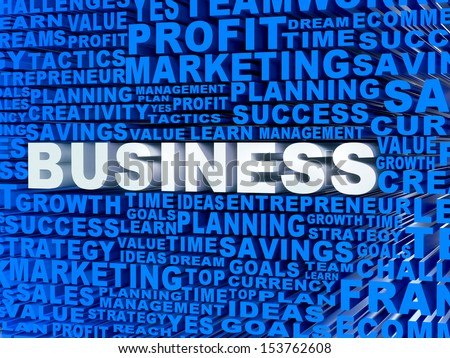 3D Mosaic with business related words  - stock photo