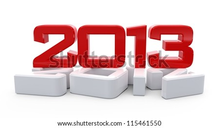 3D new 2013 year background. - stock photo