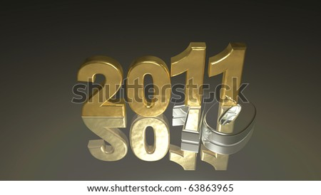 3d new year 2011 background