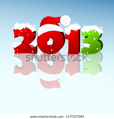3d new year 2013 design element. - stock photo