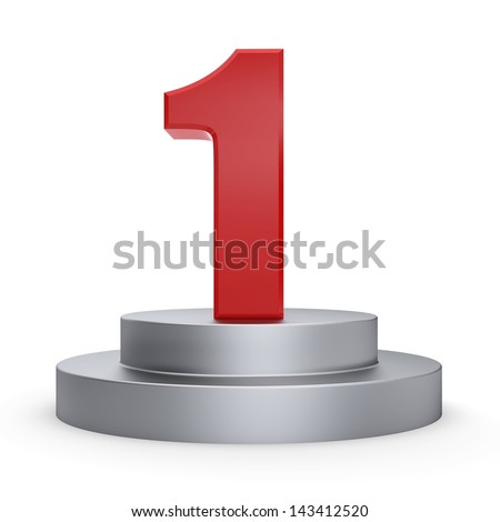 3d number 1 from my number collection - stock photo