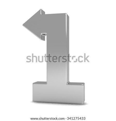 POSH Graffiti Wooden Number 1 on stick Gilded Silver 12cm - Old ...