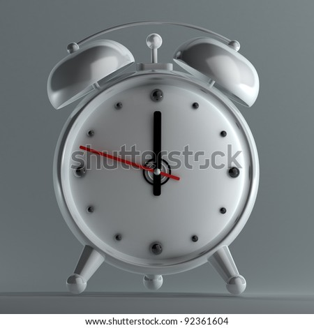 3d old fashioned alarm clock High resolution