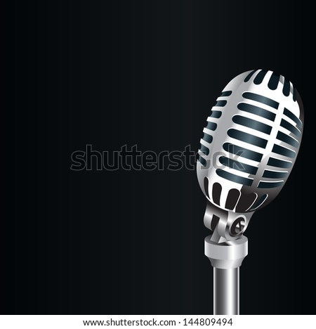 3D Old metal microphone   - stock photo