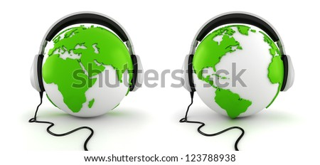 3d online call center concept - stock photo