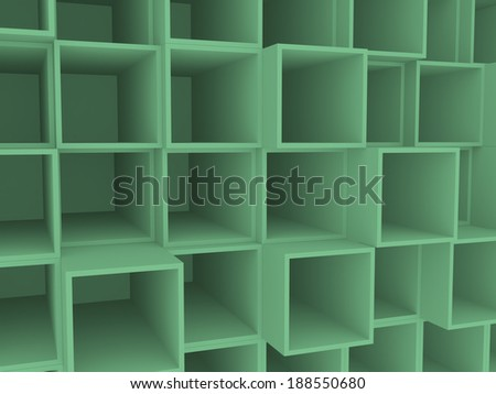 3d open wooden boxes on stack, background - stock photo