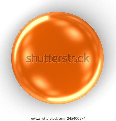 3d Orange drops on a white background - stock photo