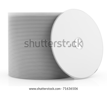 3d pack of white dvd or cd disk