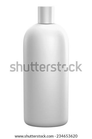 3D package gallon front view, isolated