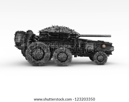 3D Panzer - stock photo